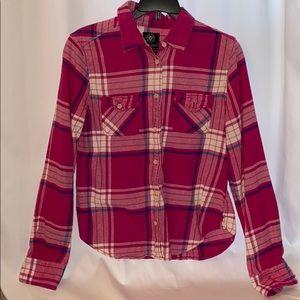 Women's Flannel American Eagle Button Down